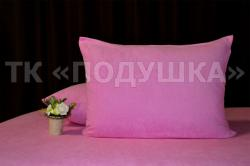 Купить розовые махровые наволочки на молнии в Пензе